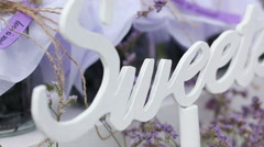 Wedding sweets Stock Footage