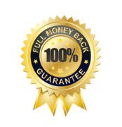 100 full moneyback guarantee - stock illustration