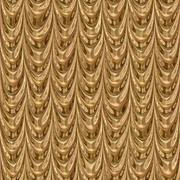 Golden drapery seamless generated texture Stock Illustration