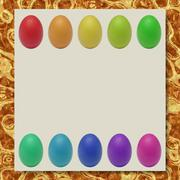 Easter eggs writing paper marble texture background Stock Illustration