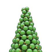 Stock Illustration of Christmas ornaments peak green