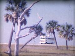 8MM driving a camping car on the road in Florida - 1 Arkistovideo