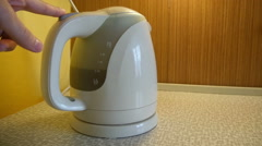 Kettle In the Kitchen Stock Footage