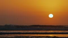 Golden sunset Stock Footage