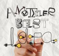 Business hand drawing graphic design another best idea word as concept Stock Illustration