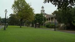 Vicksburg Courthouse and brick street 3 Stock Footage