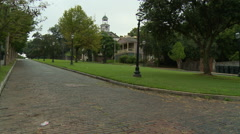 Vicksburg Courthouse and brick street Stock Footage