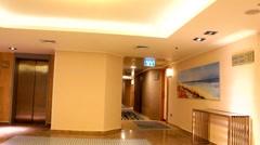 Lobby and corridor near the elevators Stock Footage