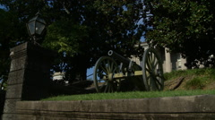 Vicksburg Courthouse cannon Stock Footage