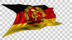 Flag of East Germany Stock Footage
