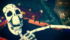 Skeleton, Mexican tradition Stock Footage