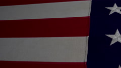 4K American Flag Slider Flyover Stars And Stripes Stock Footage