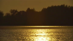 The sunset vertical panoramic view. Real Time. Shot with Red Cinema Camera Stock Footage