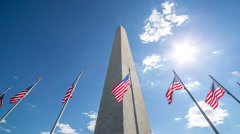 Washington Monument in D.C timelapse Stock Footage