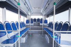 seats of bus as public transportation - stock photo