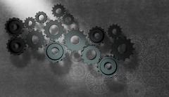 Gear wheel cog wheel illustration as concept Piirros