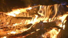 Firepit close hot Stock Footage