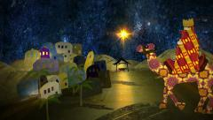 Silent Night. Christmas nativity animation. The last 10 seconds are a loop. Stock Footage