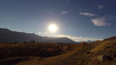 Sunrise over pilot and index peaks in the absaroka mountains Stock Footage