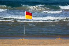 australian lifeguards in gold coast queensland australia - stock photo