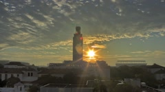 The University of Texas Tower Sunrise Time-Lapse - stock footage