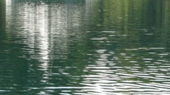 Reflection in fast-moving lake loop 1225 Stock Footage