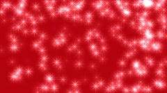 Many Stars on Red background Christmas Loop 4K Ultra Hd - stock footage