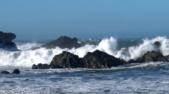 Waves crashing on rocks - stock footage