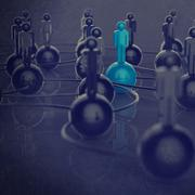 3d stainless human social network and leadership Stock Illustration