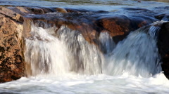 Waterfall cascade  a polar circle  river Stock Footage