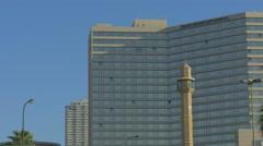 Tel Aviv - Israel - Beachfront Hotel - 25P - UHD 4K - Flat Stock Footage