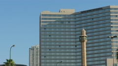 Tel Aviv - Israel - Beachfront Hotel - 25P - UHD 4K Stock Footage