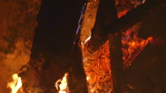 deep fire pit 1 - stock footage