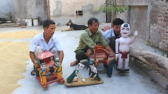 artisans and water puppetry in Asia - stock footage