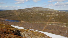 open spaces of polar region in spring - stock footage