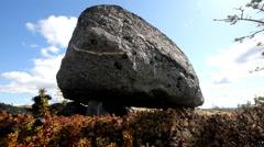 Historical religious Norwegian zen stone siedi Stock Footage