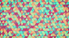 Geometric pattern of colorful triangles loop Stock Footage