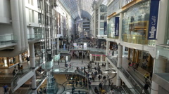 Toronto Eaton Centre - Toronto Canada - HD 4K+ Stock Footage