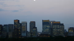 Early evening to night Tokyo time lapse 4K Stock Footage