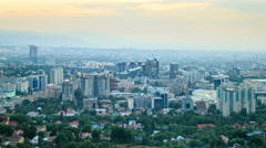 In the city the night. Almaty, Kazakhstan. 4K Stock Footage