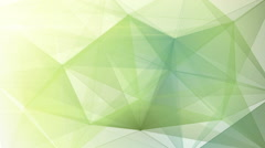 Abstract triangle geometrical pale green background loop Stock Footage