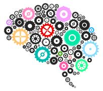 Brain Cogs And Gears Stock Illustration