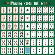 Playing cards full set Stock Illustration