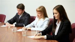 Business conference Stock Footage