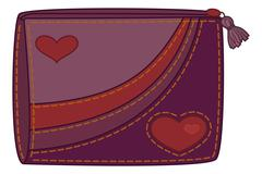 Purse with valentine hearts Stock Illustration