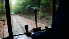 A trip with the old trolley car Stock Footage