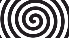 Spiral optical illusion - rotating 4k 30fps background - black white, seamles Stock Footage