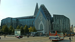 Leipzig University east side view. Stock Footage