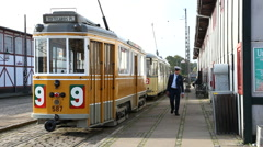 Catch a ride on tram number 9 Stock Footage