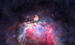 space nebula in orion - stock photo